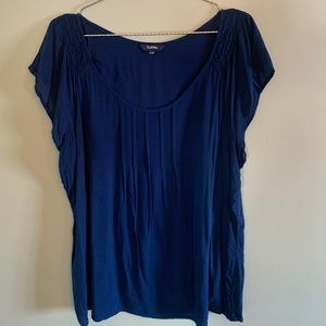Royal blue blouse , xxl blouse